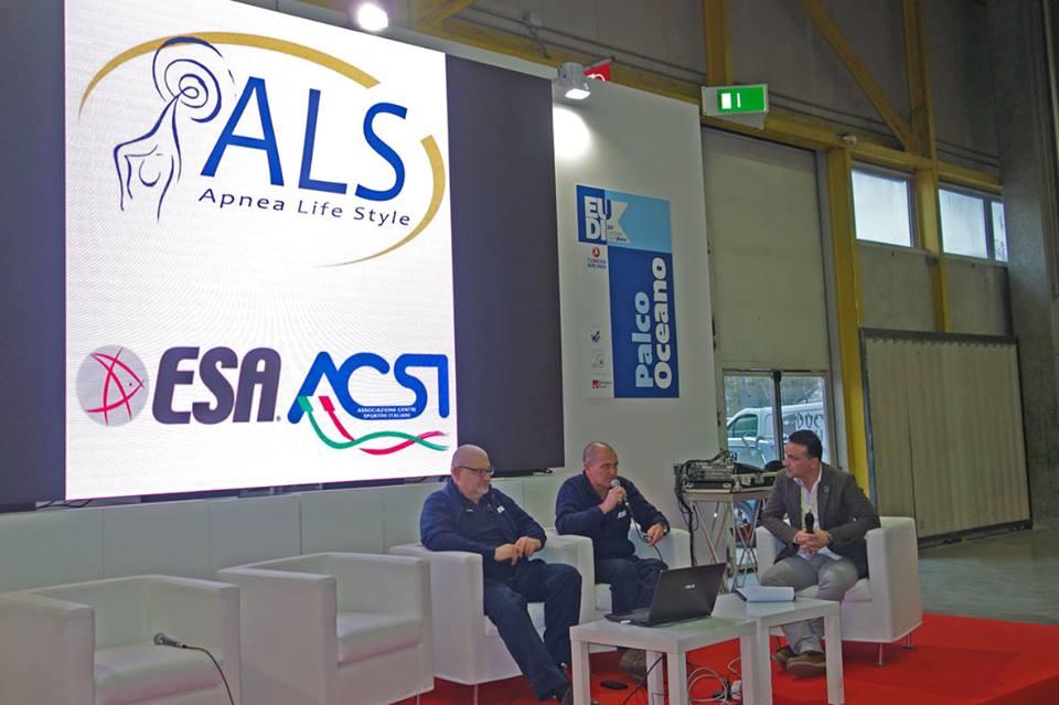 Eudi 2016 - si parla di ESA/ACSI Apnea Life Style con Mario Romor e Andrea Covarelli
