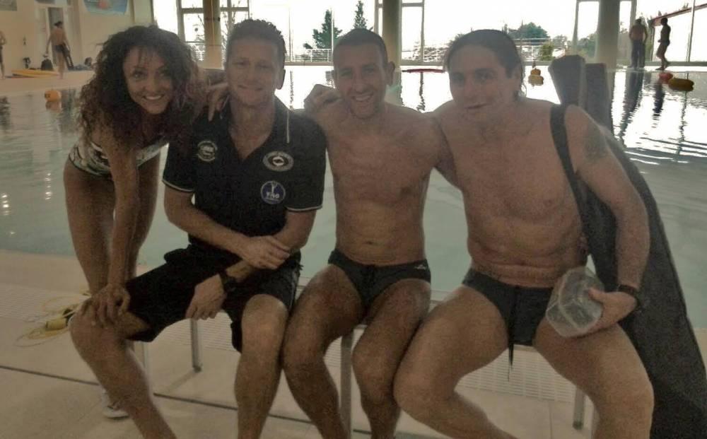 Sara, Mirko e Fabio con Umberto a Y-40